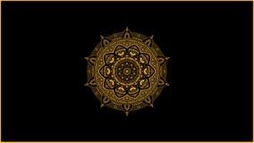 Złoty mandala dekoraci wektor fotografia royalty free