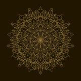 Złoty mandala Szablonu Kółkowy ornament Fotografia Royalty Free