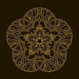 Złoty mandala Szablonu Kółkowy ornament Zdjęcie Stock