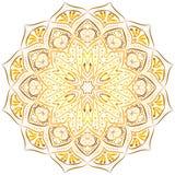 Złoty mandala wzór na białym tle fotografia royalty free