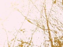 Złoty marmurowy imitaci pokrywy tło Abstrakcjonistyczny tło z starą skałą, kamienna tekstura ilustracji