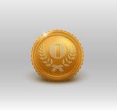 Złoty medal dla pierwszy miejsca również zwrócić corel ilustracji wektora Zdjęcia Royalty Free