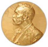 Złoty Medal nagroda nobla, grafiki wypracowanie royalty ilustracja