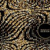 Złoty mozaiki tło z falistym wzorem okręgi Zdjęcia Royalty Free