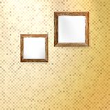 Złoty mozaiki wnętrze. Zdjęcia Stock