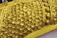 Złoty Naga drabinowa rzeźba w Lao świątyni Obraz Royalty Free