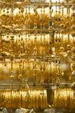 złoty naszyjnik souq dubaju Zdjęcie Royalty Free