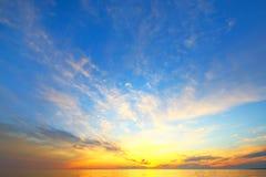 Złoty niebo spadek zdjęcie royalty free