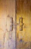 Złoty ośniedziały koloru drzwi Obraz Royalty Free