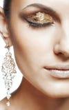 złoty oka makeup Obraz Stock
