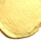 Złoty okrąg plamy tło Złocista ręka rysujący akwareli br Obraz Stock