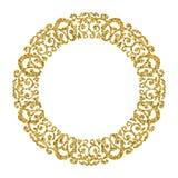 złoty okręgu ornament ramowa fotografia błyskotliwości złoto ilustracji