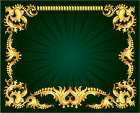 złoty ornament ilustracji