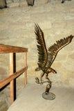 Złoty orzeł ozdabia wierza forteca obrazy royalty free