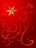 złoty płatek śniegu Obrazy Royalty Free
