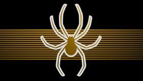 Złoty pająk Obrazy Royalty Free