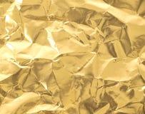 Złoty papier Zdjęcia Stock