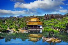 Złoty pawilon japan kinkakuji Kyoto świątynia Obrazy Stock