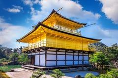 Złoty pawilon japan kinkakuji Kyoto świątynia Zdjęcie Stock