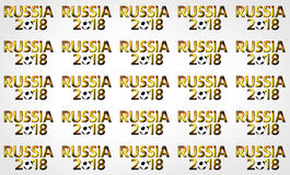 Złoty 2018 piłki nożnej fotoball Russia rosjanin 3d odpłaca się Fotografia Royalty Free