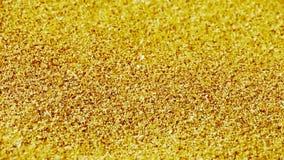 Złoty piasek, wiatrowe ciosu piaska cząsteczki na plaży zbiory wideo
