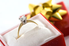 złoty pierścionek Obraz Royalty Free