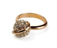 złoty pierścionek Zdjęcie Royalty Free