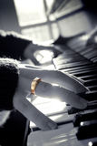 złoty pierścionek Zdjęcie Stock