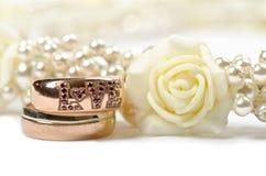Złoty pierścionek Fotografia Royalty Free