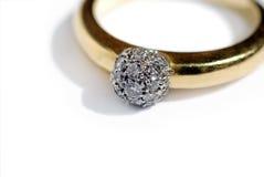 złoty pierścionek Zdjęcia Royalty Free