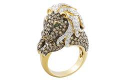 złoty pierścionek fotografia stock