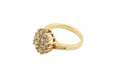 złoty pierścionek biżuterii Obrazy Royalty Free