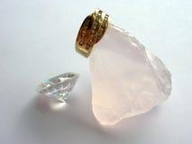 złoty pierścionek z diamentem Zdjęcie Stock
