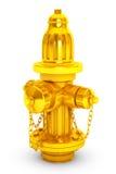 Złoty Pożarniczy Hydranton 3d rendering Zdjęcia Stock