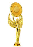 Złoty posążek bogini zwycięstwo Nike Fotografia Stock