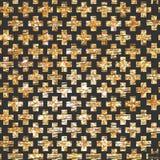 Złoty przecinający bezszwowy deseniowy tło modniś ilustracji