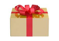 Złoty pudełko, frontowy widok Zdjęcie Royalty Free