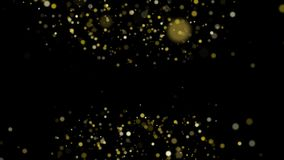 Złoty pył unosi się pod nad i royalty ilustracja