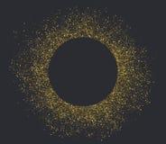 Złoty pyłu okrąg Obrazy Stock