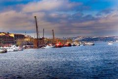 Złoty róg Istanbuł & Unkapani, Turcja fotografia stock