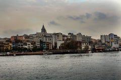 Złoty róg Karakoy w Istanbuł obrazy royalty free