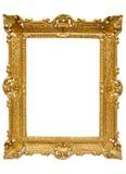 złoty ramowy ścieżka zdjęcia w plastik Zdjęcie Royalty Free