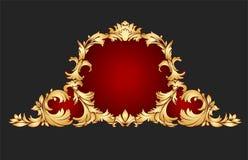 złoty ramowy Obrazy Royalty Free