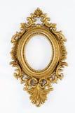 złoty ramowy owalny ozdobny rocznik Zdjęcia Royalty Free