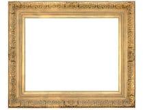 złoty ramowy ozdobny obrazy royalty free