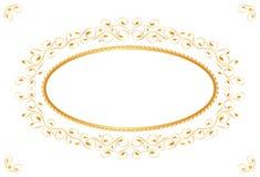 złoty ramowy rocznik Zdjęcia Royalty Free