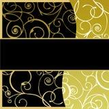 Złoty Ramowy Tło Zdjęcia Royalty Free