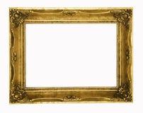 złoty ramowy zdjęcia ozdobny rocznik zdjęcia royalty free