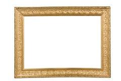 złoty ramowy zdjęcie Obraz Royalty Free