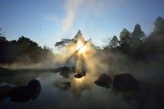 Złoty ranku światło Zdjęcia Royalty Free